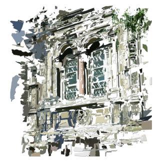 Peinture numérique - Archivolte de l'exposition Comma