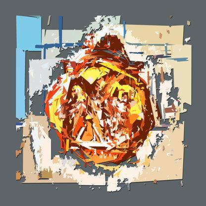 Peinture numérique sur toile du Chemin de croix ESJLA de l'exposition Comma