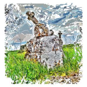 Peinture numérique sur toile de Concession échue de l'exposition « Comma »