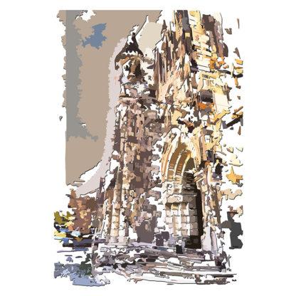 Peinture numérique sur toile de l'Église de SJLA de l'exposition Comma