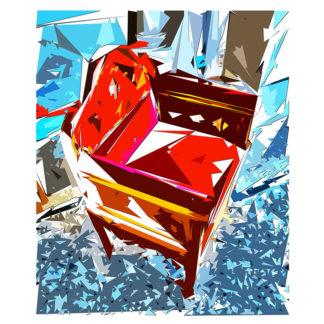Peinture numérique sur toile de Fauteuil du chœur ESJLA de l'exposition Comma