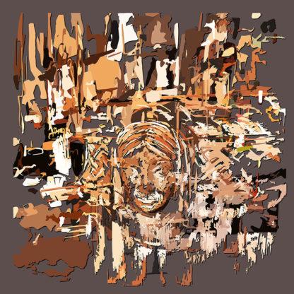 Peinture numérique sur toile de Fonts baptismaux en ESJLAde l'exposition Comma