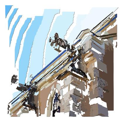 Peinture numérique sur toile du Les gargouilles de l'exposition Comma
