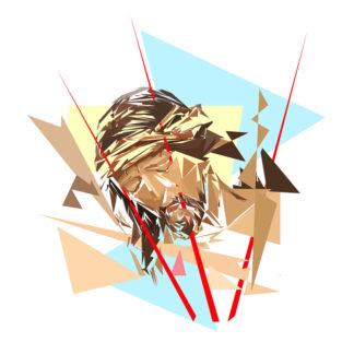 Peinture numérique sur toile de La mort du Christ de l'exposition Comma
