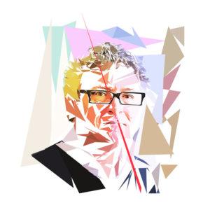 Mémoire de philosophe ou peinture numérique sur toile de Michel Onfray