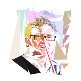 Peinture numérique sur toile de Michel Onfray