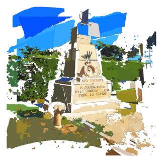 Peinture numérique sur toile de Mort pour la patrie de l'exposition Comma