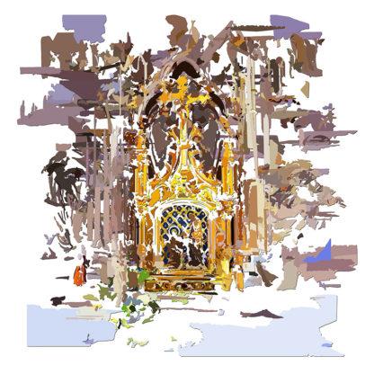 Peinture numérique sur toile de Tabernacle de l'exposition Comma