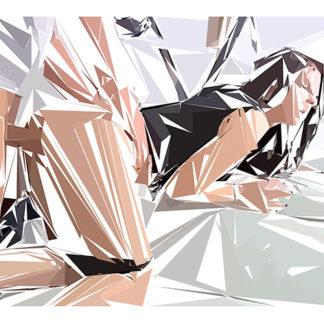 Peinture numérique sur toile de « Anal » à la manière de l'éloge de l'approximation