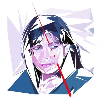 Peinture numérique sur toile de « Anne Hidalgo » à la manière de l'éloge de l'approximation