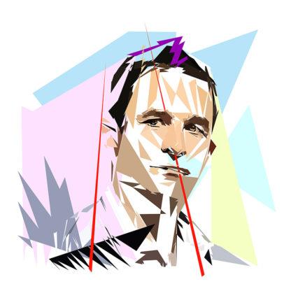 Benoît Hamon - Un personnage politiques représentés à la façon de l'éloge de l'approximation