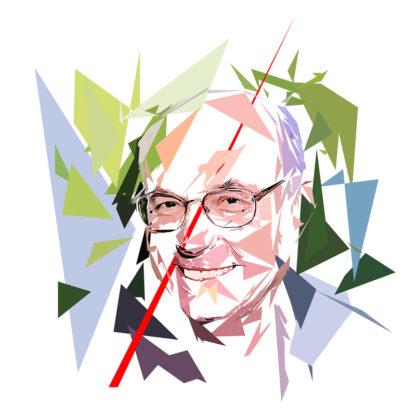 Peinture numérique sur toile de « Boris Cyrulnik » à la manière de l'éloge de l'approximation