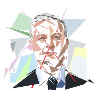 Bruno Lemaire - Un personnage politiques représentés à la façon de l'éloge de l'approximation