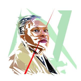 Christianne Taubira - Un personnage politiques représentés à la façon de l'éloge de l'approximation