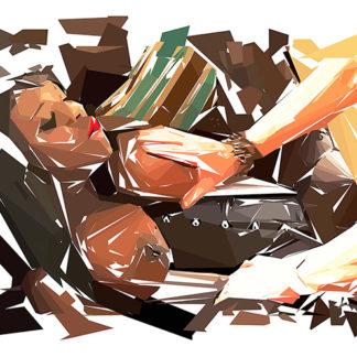 Peinture numérique sur toile de « Ebony » à la manière de l'éloge de l'approximation