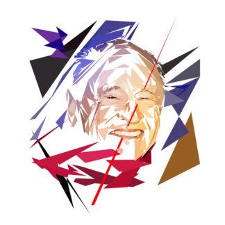 Peinture numérique sur toile de « Edgar Morin » à la manière de l'éloge de l'approximation