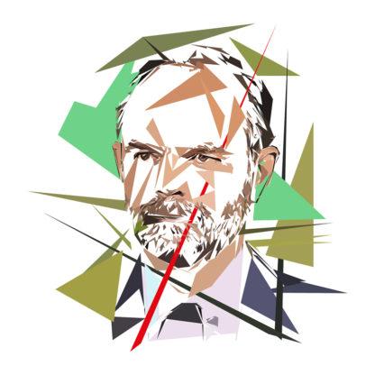 Edouard Philippe - Un personnage politiques représentés à la façon de l'éloge de l'approximation