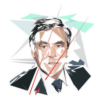 François Fillon - Un personnage politiques représentés à la façon de l'éloge de l'approximation