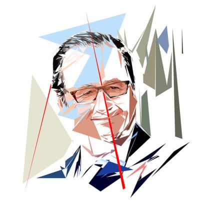 François Hollande - Un personnage politiques représentés à la façon de l'éloge de l'approximation