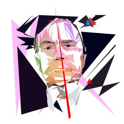 François Mitterrand - Un personnage politiques représentés à la façon de l'éloge de l'approximation