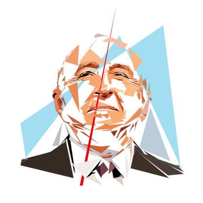 Gérard Collomb - Un personnage politiques représentés à la façon de l'éloge de l'approximation