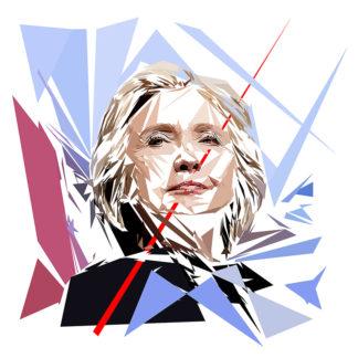 Hillary Clinton - Un personnage politiques représentés à la façon de l'éloge de l'approximation