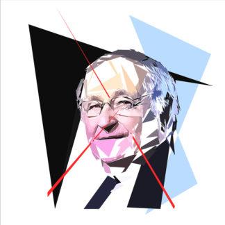 Jacques Cheminade - Un personnage politiques représentés à la façon de l'éloge de l'approximation