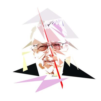 Jacques Delors - Un personnage politiques représentés à la façon de l'éloge de l'approximation