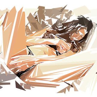 Peinture numérique sur toile de « Japanese » à la manière de l'éloge de l'approximation