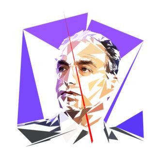 Jean-François Copé - Un personnage politiques représentés à la façon de l'éloge de l'approximation