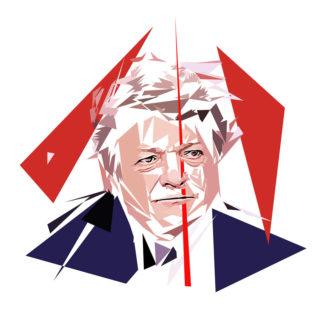 Jean-Louis Borloo - Un personnage politiques représentés à la façon de l'éloge de l'approximation