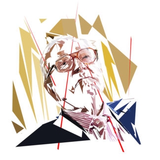 Jean-Marie Le Pen - Un personnage politiques représentés à la façon de l'éloge de l'approximation