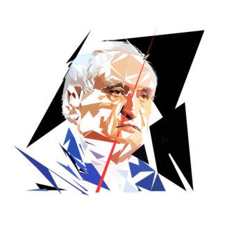 Jean-Pierre Raffarin - Un personnage politiques représentés à la façon de l'éloge de l'approximation