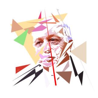 Laurent Fabius - Un personnage politiques représentés à la façon de l'éloge de l'approximation