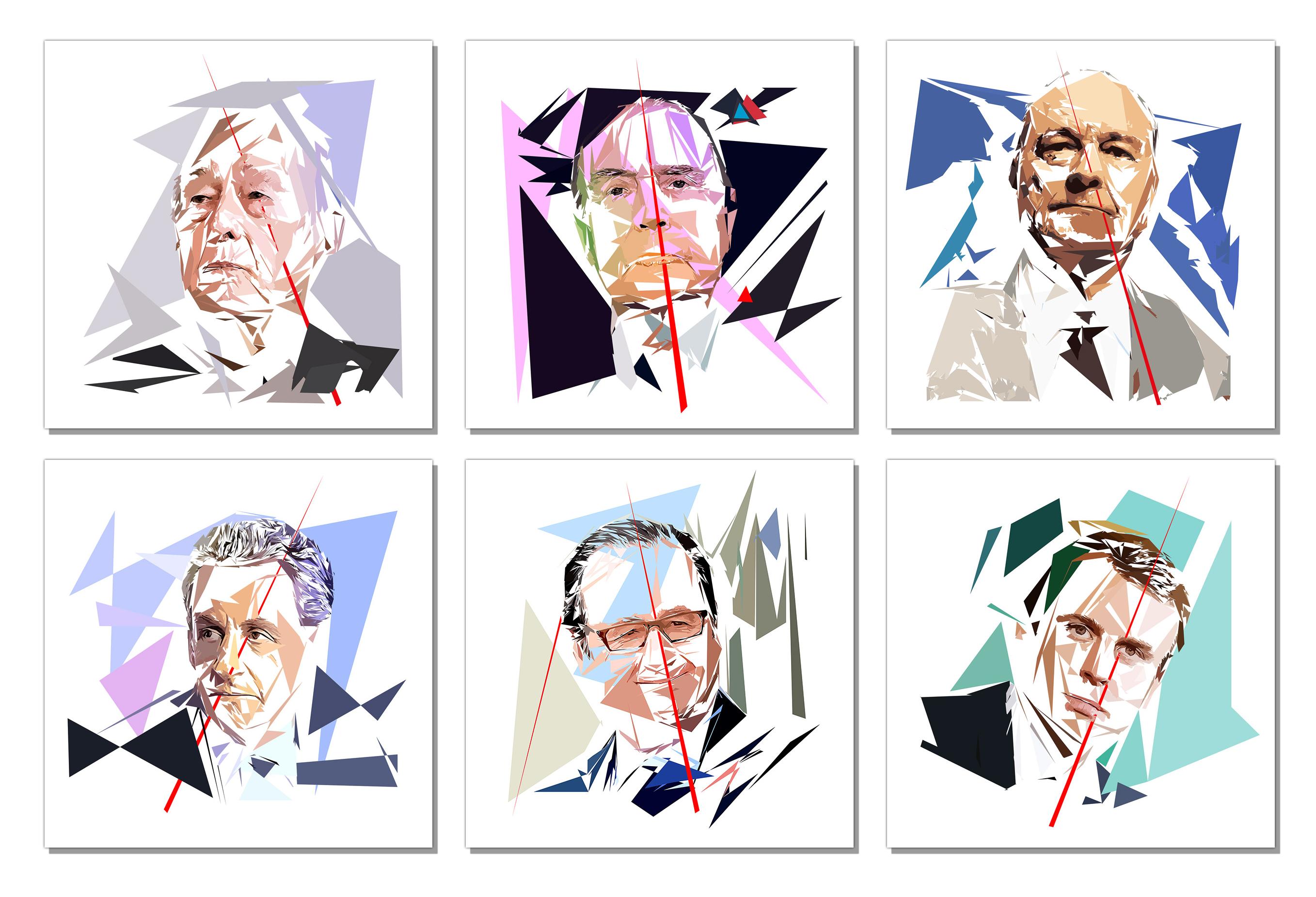 Portrait des 6 Présidents de la république française de 1974-à ce jour