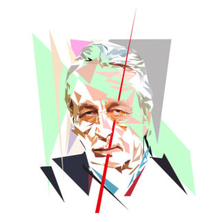 Peinture numérique sur toile de « Louis Althusser » à la manière de l'éloge de l'approximation