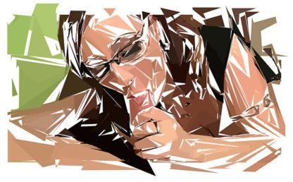 Peinture numérique sur toile de « Mature » à la manière de l'éloge de l'approximation