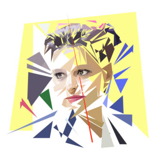 Najat Vallaud-Belkacem- Un personnage politiques représentés à la façon de l'éloge de l'approximation