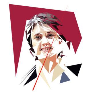 Nathalie Arthaud- Un personnage politiques représentés à la façon de l'éloge de l'approximation
