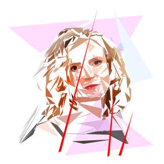 Nathalie Kosciusko Morizet- Un personnage politiques représentés à la façon de l'éloge de l'approximation