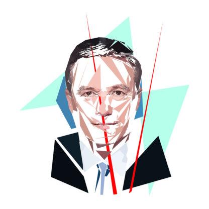 Nicolas Dupont-Aignan- Un personnage politiques représentés à la façon de l'éloge de l'approximation