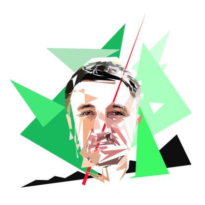 Olivier Besancenot - Un personnage politiques représentés à la façon de l'éloge de l'approximation