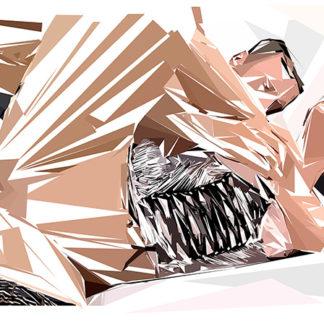 Peinture numérique sur toile de « Pantyhose » à la manière de l'éloge de l'approximation