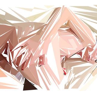 Peinture numérique sur toile de « Teen » à la manière de l'éloge de l'approximation