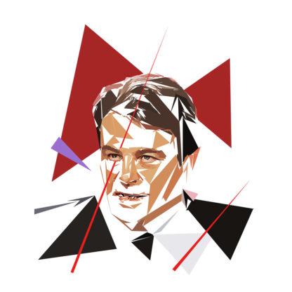 Thierry Solère - Un personnage politiques représentés à la façon de l'éloge de l'approximation