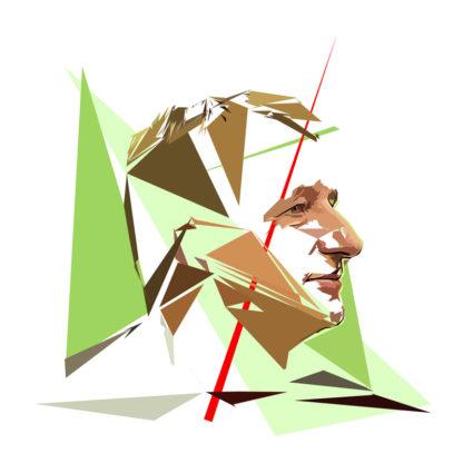 Yannick Jadot - Un personnage politiques représentés à la façon de l'éloge de l'approximation
