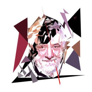 Peinture numérique sur toile de « Yves Coppens » à la manière de l'éloge de l'approximation