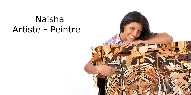 Naisha, artiste de son état, veut vendre son tableau