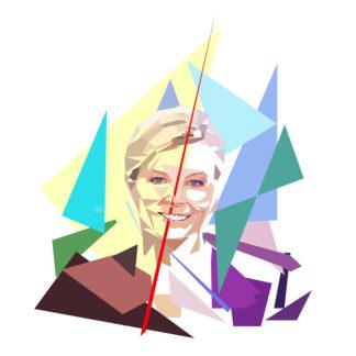 Estelle Colin présente le journal télévisé sur France 2 dans l'émission Télématin.