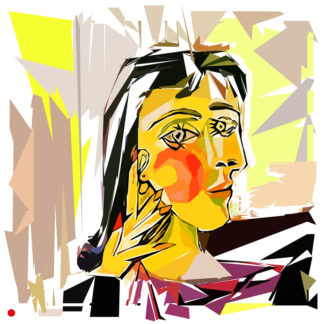 Appropriation et remake du portrait de Dora Maar de Picasso
